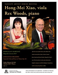 Faculty Artist Series Recital: Hong-Mei Xiao, viola & Rex Woods, piano
