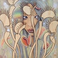 """Fay Helfer, Dionaea, 12""""x12"""""""
