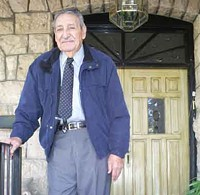 LEO W. BANKS - Former Arizona Gov. Raúl Castro at the front - door of his Nogales home.