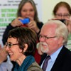 Gabby Giffords and Ron Barber tour the Community Food Bank shortfly before she formally resigned from Congress earler this year.