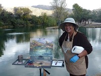 GAY SCHEIBL - Geri Acosta painting Tanque Verde Guest Ranch