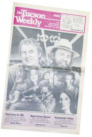 Glorious Radio With Guts: Writer Dale Hopper celebrates KXCI's first anniversary. -- Nov. 7, 1984 - CHRISTOPHER ANDREWS