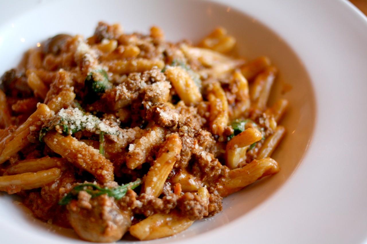 Handmade Cavatelli in a chunky meaty bolognese sauce
