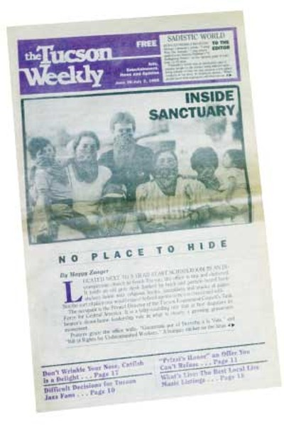 Inside Sanctuary: Staff writer Maggy Zanger covers the federal government's case against Tucson church workers who aided refugees fleeing political persecution in Central America. -- June 26, 1985 - STEVEN TRUBITT