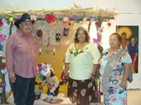 MARI HERRERAS - Jose Matus, Rosemary Tona-Aguirre and Josefina Cardenas at the Yoemen Tekia Cultural Center and Museum on the Pascua Yaqui Reservation.