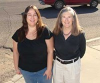 MARI HERRERAS - Laurie Mazerbo and Mary Pat Sullivan co-chaired the 2009 Annual Homeless Street Count organized by the Tucson Planning Council for the Homeless.