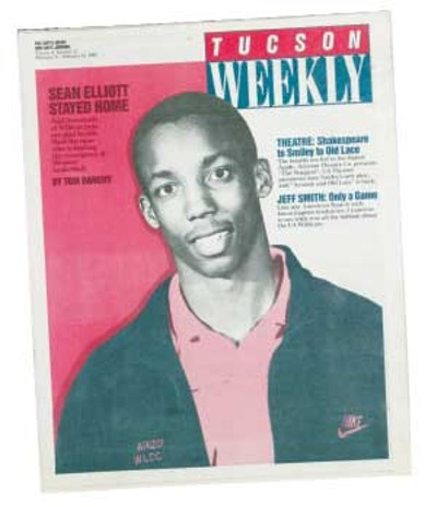 Meet 20-year-old Sean Elliott of the Arizona Wildcats: A soft-spoken, butt-kicking basketball artiste is being counted upon by fans, players and coaches all over the Western United States to lead a regional renaissance and recapture the national crown that has been the sole property of the Eastern bullies for more than a decade now. A lot to ask from a local kid from Cholla High. -- Tom Danehy, Feb. 17, 1988