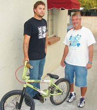 MARI HERRERAS - Mike Hines and Scott Laos want more places available for kids to - ride BMX and to eventually build the Kory Laos Memorial Freestyle BMX - Bicycle Park.
