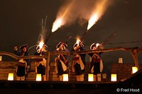 Muskets firing on Luminaria Night