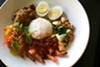 Nasi Lemak, featuring coconut infused jasmine rice, rendang beef, and shrimp sambal, $14.95.
