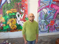 MARI HERRERAS - Nogales, Sonora, native Paco Velez now lives in Tucson and works at his Toole Shed art studio in the Warehouse District.