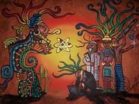 "PAINTING BY TANYA ALVAREZ - ""Pre-Columbian Healers"""