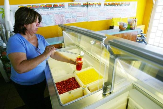 Raspados served at Sonoran Delights.