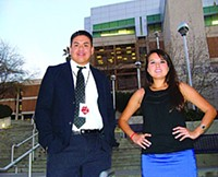 MARI HERRERAS - Red Ink managing editor Joseph Quintana Ramirez and marketing officer Ashley Tsosie-Mahieu, back when the magazine celebrated its 20th anniversary issue in March.