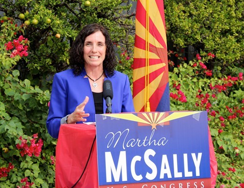 Republican Martha McSally compared the lengthy vote count to running the Iron Man triathlon and coming up on the finish line, only to find out you had to run another 10K.