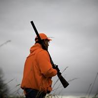 Santorum Goes Hunting Rick Santorum, pheasant hunting, Adel, Iowa, Dec. 26th, 2011. Samantha Sais