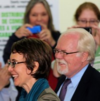 JIM NINTZEL - Ron Barber was at Gabrielle Giffords' side when she toured the Community Food Bank of Southern Arizona during her last day in Congressional District 8 as a congresswoman.