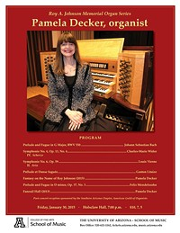 Roy A. Johnson Memorial Organ Series: Pamela Decker