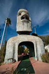 Sculptor Lee Koplin created the concrete creatures that need a new home now that Magic Carpet Golf has closed.