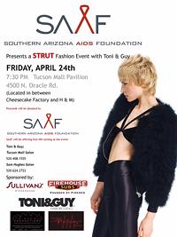 STRUT Fashion Show Flyer