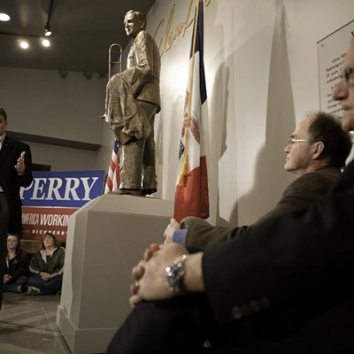 Rick Perry and Joe Arpaio in Iowa, Dec. 27, 2012