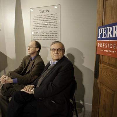 Rick Perry and Joe Arpaio in Iowa, Dec. 27, 2012