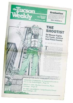 The argument continues to rage over whether Pima County Supervisor Ed Moore shoots from the hip, shoots down the bad guys or just shoots himself in the foot.  -- Howard Allen, May 28, 1986