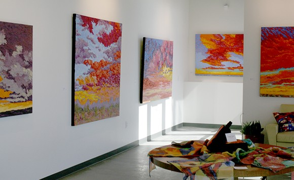 The Artful Living Gallery is now open and full of color. - HEATHER HOCH