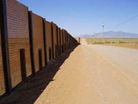 LEO W. BANKS - The border wall along John Ladd's San Jose Ranch.