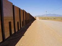 LEO W. BANKS - The border wall along John Ladd's San Jose Ranch.