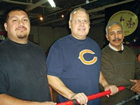 LEO W. BANKS - The coaches who volunteer their time at Tucson Southwest Boxing. From left: Jesus Sanchez, Pete Quezada and David Villarreal.