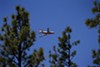 The DC-10 air tanker was deployed on Thursday, June 9 to help combat the Wallow fire. The DC-10 holds 11,600 gallons of water or retardant in an external tank and can empty its tank in less than eight seconds from an altitude of 200 to 500 feet.