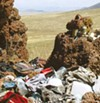 Trash fills public lands near the border.