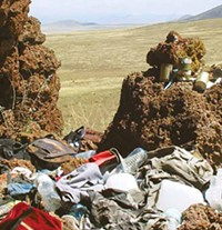 LEO W. BANKS - Trash fills public lands near the border.