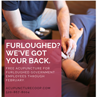Free acupuncture for furloughed government workers