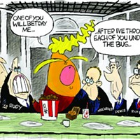 Claytoon of the Day: A Trumpian Supper