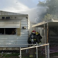 Trailer Fire on Tucson's Northwest Side