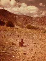 Abe bathing as a child. - BRIAN SMITH
