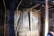 Fire damage in the chapel left a beloved section of the DeGrazia Gallery in the Sun Historic District charrred and severly damaged. - JEFF GARDNER
