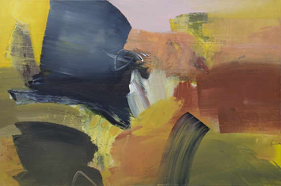 """On the Cover: Details from """"Song of the Dawn Sleeper,"""" 2017, acrylic on canvas by - Josh Goldberg, on exhibit at downtown's Davis Dominguez Gallery. - COURTESY DAVIS DOMINGUEZ GALLERY"""