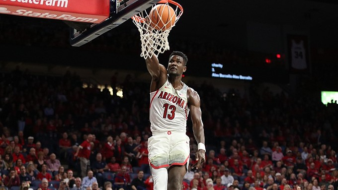 Deandre Ayton is averaging 19.9 points and 11.2 rebounds as a freshman. - ARIZONA ATHLETICS