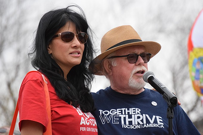 """Ron Barber (with Roxanna Green): """"If this Congress refuses to keep kids safe, we will elect a Congress that will."""" - DANYELLE KHMARA"""