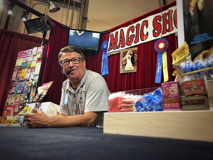 Emory Williams Jr. manning magic at Pima County Fair.