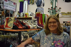 """Tucson Thrift Shop owner Arlene Leaf: """"There's a certain aura down here. We're very eclectic, and it has to be honored."""" - DANYELLE KHMARA"""