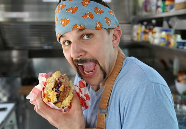 """Richie Farina, host of the new Cooking Channel series """"Carnival Kings"""" - COOKING CHANNEL"""