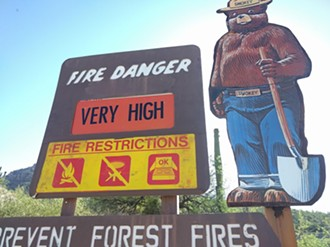 A sign on Mount Lemmon indicates that the fire danger is very high. - DYLAN REYNOLDS