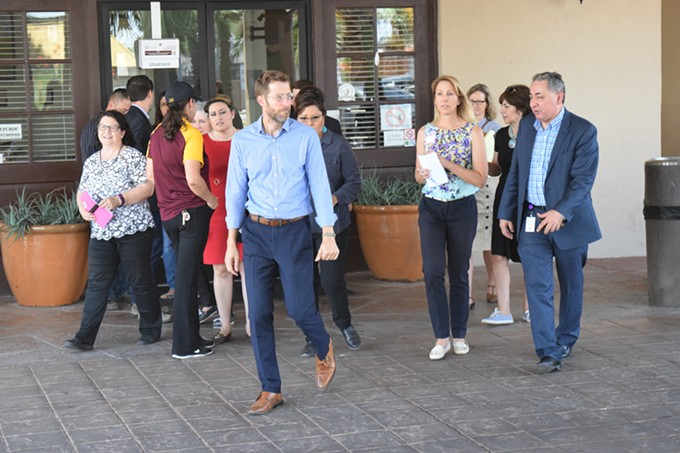 State lawmakers leave Southwest Key, the Tucson facility that holds immigrant children separated from their families, after a tour on Friday, July 17. - DANYELLE KHMARA