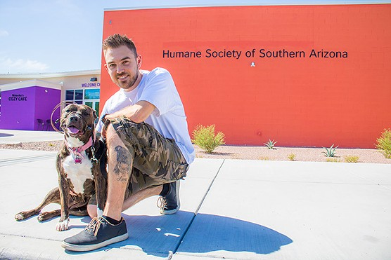 Tyler Crawford and his dog Luna - HUMANE SOCIETY OF SOUTHERN ARIZONA