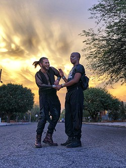 Cain and Or'ion in Tucson. - BRIAN SMITH