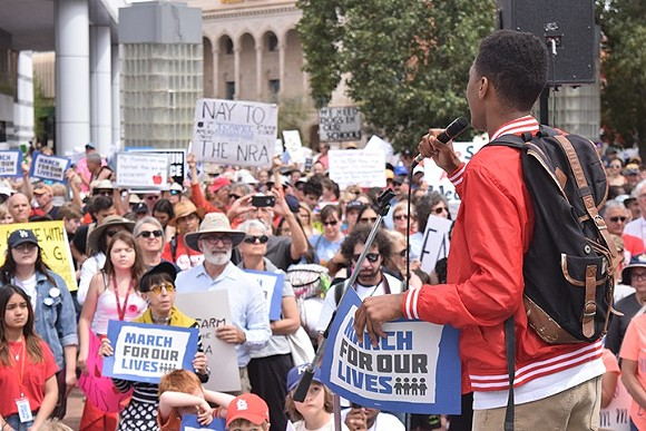 March for our Lives protest in Tucson. - DANYELLE KHMARA